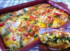 "Sweet Potato ""Crust"" Vegetable & Egg Bake  @Healthilinguist"