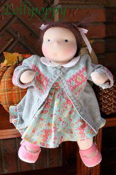 Amalie- 14 inch Waldorf Baby Doll. $275.00, via Etsy.
