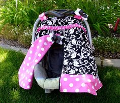 Car Seat Canopy with Zipper