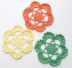 Easy crochet flower mandela (s)