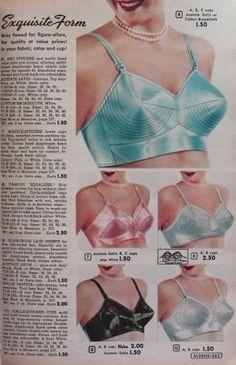 Vintage Lingerie bullet bras, pointed bra, whirlpool bra, or sweater girl bra. Lingerie Retro, Satin Lingerie, Women Lingerie, Sexy Lingerie, White Lingerie, Vintage Bra, Vintage Underwear, Mode Vintage, Vintage Girdle