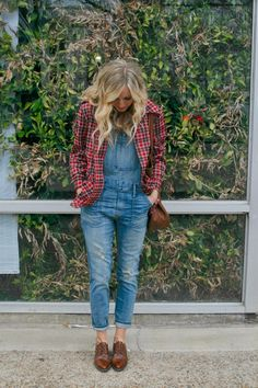 Vintage and Madewell overalls on RSR