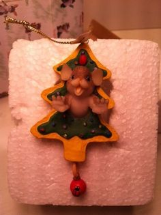 """Charming Tails """"Have Fun Working Thru the Holiday Sweets"""" Ornament, New in Box, - http://collectiblefigurines.net/charming-tails/charming-tails-have-fun-working-thru-the-holiday-sweets-ornament-new-in-box/"""