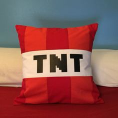 Minecraft pillows by NellieandThread on Etsy