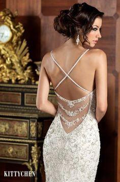 Featured Dress: KITTYCHEN COUTURE; Wedding dress idea.