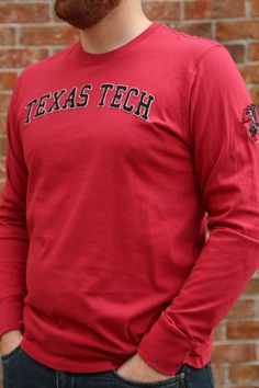 47 Texas Tech Red Raiders Red Fieldhouse Long Sleeve Fashion T Shirt - 48002684 Raiders T Shirt, Texas Tech University, Tech T Shirts, Texas Tech Red Raiders, New Print, Stylish, Sweatshirts, Rally, Tees