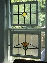 Image result for how to hang a framed stained glass window in front of a window
