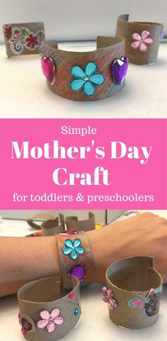 Mother's Day craft toddlers can make for Mom. Grandma or Mom would love this handmade DIY gift even toddlers or preschoolers can make!