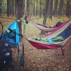 Use a hammock for camping if rain isn't in the forecast!