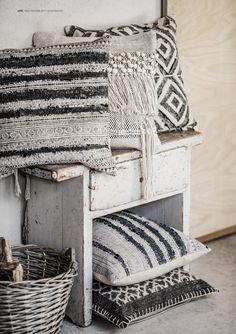 Feather Edge Coussin Oreiller large 40cmx40cm Home Sofa Décor