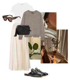 """""""Untitled #14"""" by ella-rudolfsson-1 ❤ liked on Polyvore featuring T By Alexander Wang, Les Copains, Isabel Marant and Gucci"""