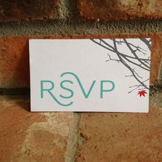 Wedding RSVP Card for Japanese Maple Invitation by FiraPrintables, $20.00