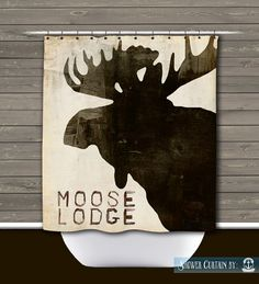 Moose Lodge Shower Curtain Rustic By BrandiFitzgerald