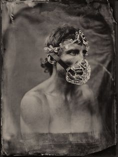Photography, Large format in People, Portrait, Male, Large Format Mentor Panorama, wet plate collodion, ambrotype 18x24, glass, Mod: DawidHa http://www.maxmodels.pl/model-dawidha.html VI edycja Podlaskie Plenery Fotograficzne - Image #589330