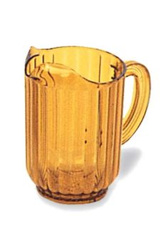 Bouncer Pitcher Amber: Bouncer plastic amber pitcher for food service and restaurant