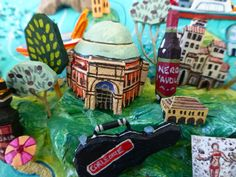 Palermo and Cefalu map detail . Sara Drake - illustrated map of Italy - papier mache, acrylic paint, balsa wood and mixed media. Palermo Italy, Italy Map, Beads And Wire, Geography, Drake, Mixed Media, Illustration, Detail, Cards