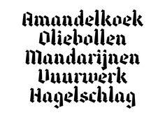 Dutch Winter: typeface and specimen on Behance