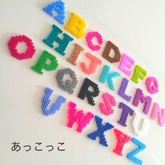 Alphabet perler beads by Akkokko