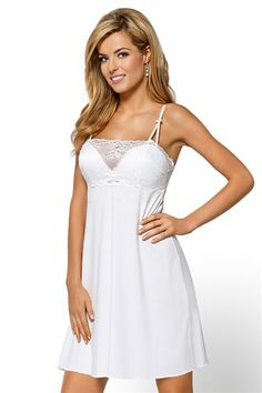 Nipplex Otylia Milk White Nightdress with Lace Bust Medium ** Check this awesome product by going to the link at the image. Night Gown, Cold Shoulder Dress, White Dress, Formal Dresses, Milk, Blouses, Button, Medium, Tees