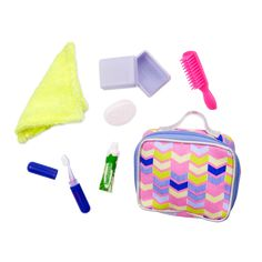 Be prepared for sleepover fun with the Our Generation Sleepover Essentials Set for dolls, including a mini travel pouch full of doll toiletries! Our Generation Doll Accessories, My Life Doll Accessories, American Girl Accessories, Toy Cars For Kids, Toys For Girls, Girl Dolls, Baby Dolls, Poupées Our Generation, Baby Alive Food