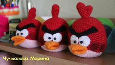Free Red Bird of Angry Birds Crochet Pattern... Be cute to make a bean bag game with the birds and different piggy holes in the boards.