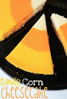 Cheesecake made to like like candy corn!  Loads of other fall recipes too.