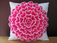 Felt Flower Pillow Pattern ISABELLA FLOWER Pillow by SewYouCanToo