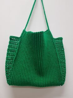 Crochet net bag, summer bag - My CMS Crochet Clutch, Crochet Handbags, Crochet Purses, Crochet Crafts, Crochet Yarn, Crochet Filet, Diy Crafts, Diy Bags Purses, Net Bag