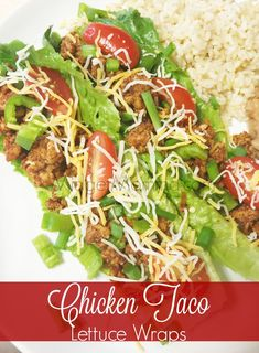 Get your mexican taco fix while being healthier with these Chicken Taco Lettuce Wraps, topped with an AMAZING Chipotle sauce these are amazing!