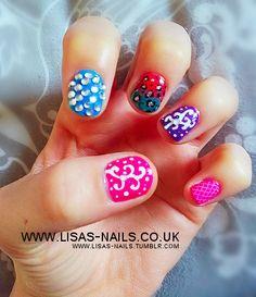 Mix n match nail art by Lisa's Nails