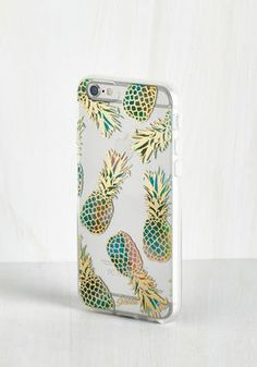 The Pina Call-ada iPhone 6 Case is decorated with gilded teal-and-pink pineapples, and the sides are made of shock-absorbent rubber. http://thestir.cafemom.com/beauty_style/187376/trend_alert_fab_fruit_fashion