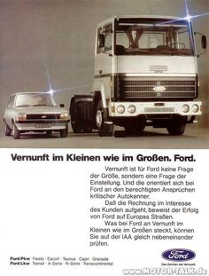 In the early seventies, Trans-European road transportation was a booming business and to get the job done you needed a heavy long-distance truck. The UK-based American truckmakers, Ford and GM, […] Mk1, Vertical Integration, Continental Europe, Vintage Cars, Vintage Auto, Heavy Truck, Cummins, Big Trucks, Fiat
