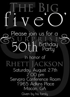 Big 50 A Customizable 50th Birthday By ImpressionsPaperie On Etsy 1300 Moms