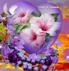 By Artist Unknown. Valentine Picture, Be My Valentine, Purple Love, All Things Purple, Love Heart Images, Heart Gif, Hearts And Roses, Amazing Flowers, Wedding Party Favors