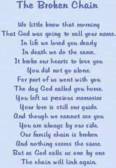broken chain Miss you Dad, you were always there for me, oh, how I miss you! Miss Mom, Miss You Dad, Familia Quotes, Pass Away Quotes, Tribute To Dad, Do It Yourself Food, Be My Hero, Funeral Poems, After Life