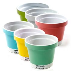 Pantone Planters! Planter Small Multi Set Of 6 now featured on Fab.