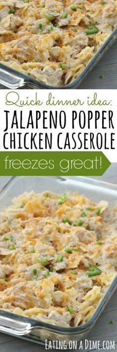 freezer friendly jalapeno popper chicken casserole: