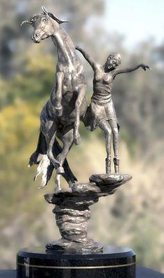 Pas De Deux Sculpture - Pas De Deux  by J Anne Butler