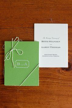 Green Wedding Ceremony Program