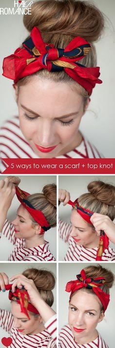 Si quieres cambiar el look de tu cabello puedes agregar accesorios y las mascadas son una excelente opción, hoy te dejamos algunas opciones.