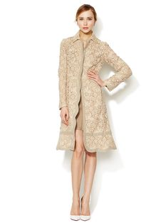 "A little too ""old lady?"" I don't care! I want it anyway!  Embroidered Scalloped Overcoat by Valentino at Gilt"