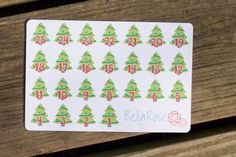 Christmas Countdown Planner Sticker, 25 Days of Christmas, Erin Condren Planner Stickers, Happy Planner Stickers