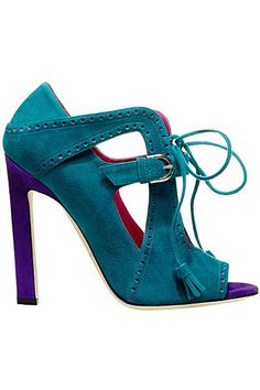 Brian Atwood Blue Suede Sandal Fall 2014 #Shoes #Heels  with <3 from JDzigner www.jdzigner.com