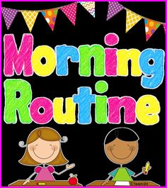 Morning Routine Tips - ideas to help make your morning less hectic plus a few freebies! free and paid