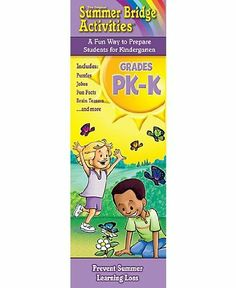 Summer Bridge ActivitiesTM Activity Cards Pk-K by RB-934101. $13.95. Delight your kids with mind-bending, rib-tickling, brain-boosting fun! These Summer Bridge ActivitiesTM Fact Cards are a great companion to the award-winning workbook series, providing hours of fun for everyone. This boxed set includes two decks of 79 full-color cards, which are held together with a corner grommet to keep the cards from getting lost and to make it easy for children of all ages to hold ...