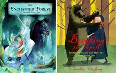 The Enchanted Forest: A Scottish Fairytale, retold by Rosalind Kerven, illustrated by Alan Marks (Frances Lincoln, 1999) and Breaking the Spell: Stories of Magic and Mystery from Scotland, written by Lari Don and illustrated by Cate James (Janetta Otter-Barry Books, Frances Lincoln, 2013 (UK)/ 2014 (US))