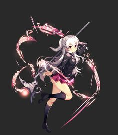 ArtStation - Girls' High School Battle Battle Character Illustration of Action Games created in 2016, c.c. R