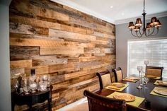 Rustic Wood Wall Ideas Using Wood Planks - Rustic Crafts & Chic DecorYou can find Rustic wood and more on our website.Rustic Wood Wall Ideas Using Wood Planks - Rustic Crafts & Chi. Wooden Accent Wall, Reclaimed Wood Accent Wall, Rustic Wood Walls, Wooden Wall Decor, Wooden Walls, Barn Wood, Salvaged Wood, Pallet Accent Wall, Wood Interior Walls
