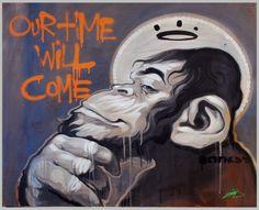 Banksy by Nasimo Banksy Graffiti, Grafitti Street, Street Art Banksy, Bansky, Pop Art, Urbane Kunst, Monkey Art, Art Japonais, Best Street Art