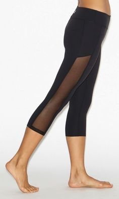 Crystal Mesh Paneled Leggings by BEYOND YOGA....these make want to sign up for yoga!